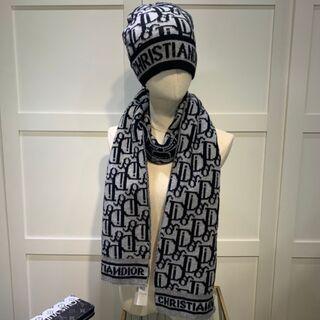 Dior - メンズ用 Dior 帽子、マフラー2点セット
