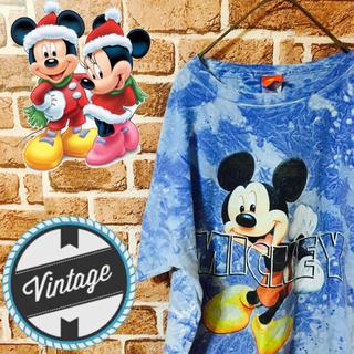ディズニー(Disney)の【激レア】ディズニー☆ビッグプリントタイダイ柄ビンテージTシャツ 90S(Tシャツ/カットソー(半袖/袖なし))