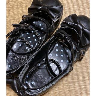 アンジェリックプリティー(Angelic Pretty)のPretty♡茶会靴♡黒♡LLサイズ(ハイヒール/パンプス)