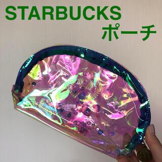 Starbucks Coffee - STARBUCKS ポーチ スパンコール スタバ スターバックス プリズムポーチ