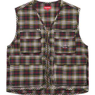 シュプリーム(Supreme)のsupreme Tartan Flannel Cargo Vest  M 新品 (ベスト)
