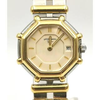 ジェラルドジェンタ(Gerald Genta)のGERALD  GENTA  K18YG/SS  オクタゴン デイト 時計(腕時計)