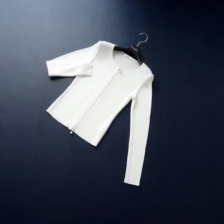René - ■Rene■ 36 ホワイト系 リブカーディガン Wジップ