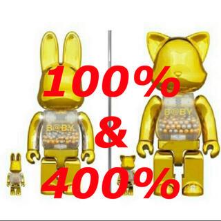 メディコムトイ(MEDICOM TOY)のMY FIRST NY@BRICK B@BY 100% & 400% GOLD(キャラクターグッズ)