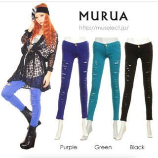 ムルーア(MURUA)のMURUA パギンス サイズ02  ブラック(スキニーパンツ)