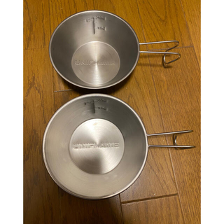 ユニフレーム(UNIFLAME)のユニフレーム UF シェラカップ 300 チタン 2個セット(食器)