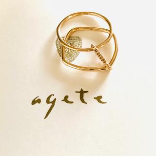 agete - アガット新作 2way  ダブルリング