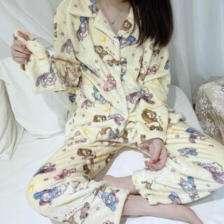 ダッフィー(ダッフィー)の日本未発売 ダッフィーフレンズ パジャマ ルームウェア アイマスク付き Lサイズ(パジャマ)