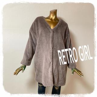 RETRO GIRL - RETRO GIRL ♥ フェイクファーコート ロングコート