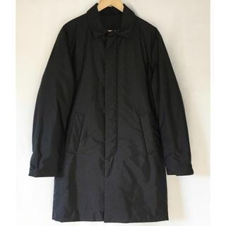 プラダ(PRADA)の美品 PRADA SPORTS ナイロン ステンカラー コート ブラック 44(ステンカラーコート)