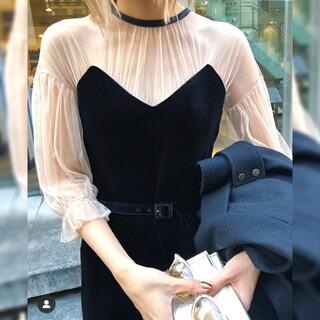 Ameri VINTAGE - Ameri【タグ付新品】チュールスリーブ ドレス
