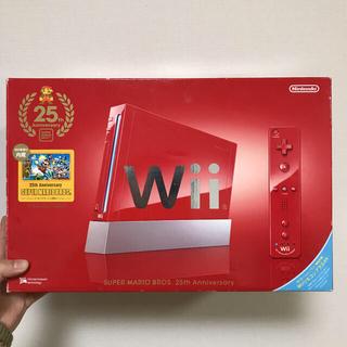 ウィー(Wii)のNintendo Wii スーパーマリオブラザーズ 25周年記念モデル(家庭用ゲーム機本体)