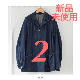 COMOLI - comoli デニムワークジャケット カバーオール navy サイズ2 新品