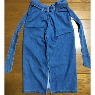 ダブルクローゼット(w closet)のダブルクローゼット デニム スカート Mサイズ(ロングスカート)