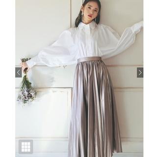 GRL - グレイル レザーロングプリーツスカート