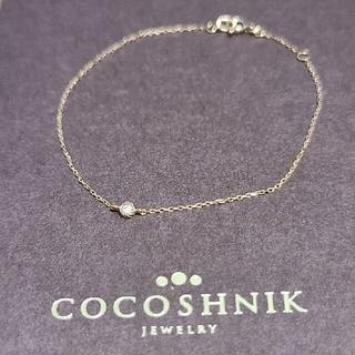 ココシュニック(COCOSHNIK)のCOCOSHNIK  K10   ダイヤモンドブレスレット(ブレスレット/バングル)
