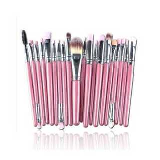 メイクブラシ 化粧 美容 メイクアップ 柔らかい 多機能 20本 セット ピンク