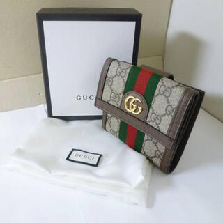 Gucci - 未使用品 グッチ GGスプリーム シェリー オフィディア Wホック 折り財布
