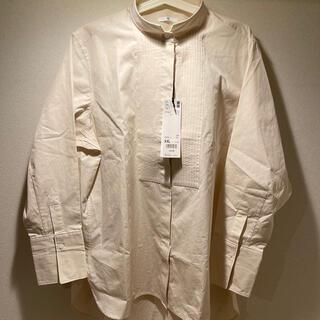UNIQLO - ユニクロ +Jプラスジェイ スーピマコットンタックシャツ ナチュラル X XL
