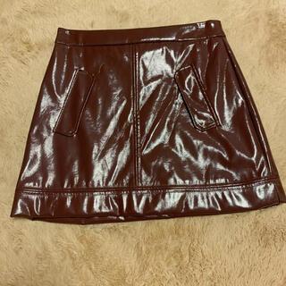 REDYAZEL - エナメル台形ミニスカート