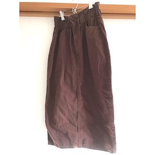 ダブルクローゼット(w closet)のwcloset ウエストギャザースカート(ロングスカート)