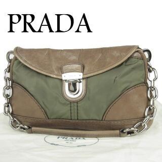 PRADA - プラダ テスート ナイロン×レザー チェーン 肩掛け ショルダー ハンドバッグ