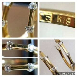セイコー(SEIKO)のK18ダイヤモンドフープ(ピアス)