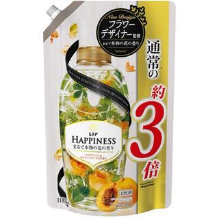 ハピネス(Happiness)のレノア ハピネス 柔軟剤 アプリコット&ホワイトフローラル 詰め替え (洗剤/柔軟剤)