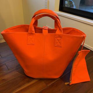 Hermes - エルメス パニエドプラージュ オレンジ マザーズバッグ ビーチバッグ