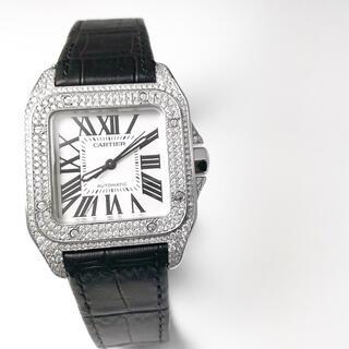 Cartier - 【仕上済】カルティエ サントス100 MM シルバー メンズ 腕時計