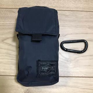 ポーター(PORTER)の美品 PORTER レイヤー LAYER ポーチ 817-06653 黒 GR(コンパクトデジタルカメラ)