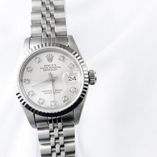 ROLEX - 【仕上済】ロレックス 10P デイトジャスト シルバー文字盤 レディース 時計