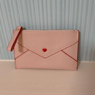 ラブレター コインケース カードケース 定期入れ ミニ財布 ハート ピンク