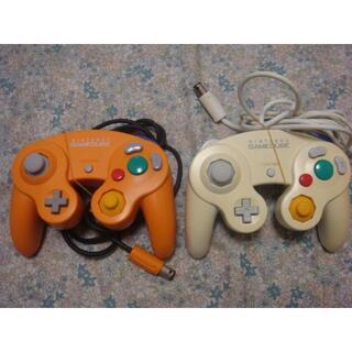 白色 オレンジ ゲームキューブ コントローラ(家庭用ゲーム機本体)