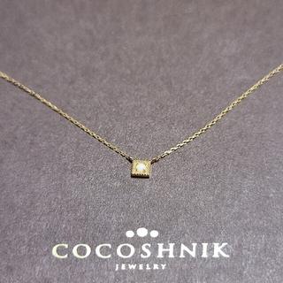 ココシュニック(COCOSHNIK)のCOCOSHNIK  K10  ホワイトカルセドニーネックレス(ネックレス)