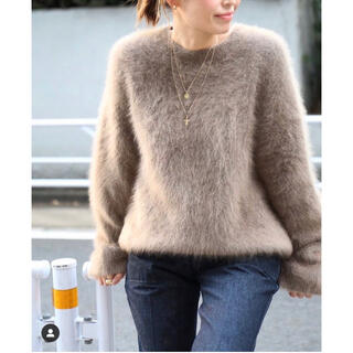 今季完売品Deuxieme Classe Fluffy Sweater ベージュ