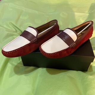 カステルバジャック(CASTELBAJAC)のドラゴンベアードコンビ革靴〜27センチ〜新品未使用品(ドレス/ビジネス)