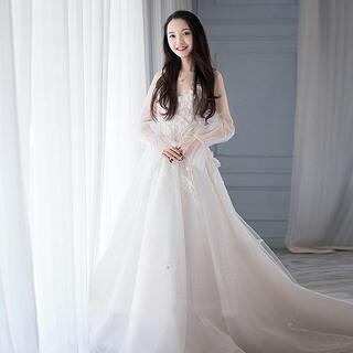 ウエディングドレス ブライズメイド ロングドレス 2次会 花嫁ドレス お呼ばれ(ウェディングドレス)