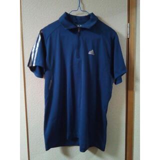 アディダス(adidas)の美品 adidas アディダス ゴルフ ポロシャツ S 紺 メンズ(ウエア)