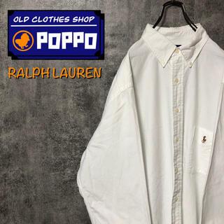 Ralph Lauren - ラルフローレン☆ワンポイント刺繍カラーポニーポケットビッグシャツ