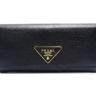プラダ(PRADA)のプラダ  長財布  二つ折り 財布 三角ロゴ 1MH1132  ブラック(財布)
