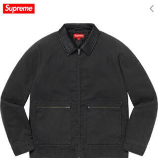 Supreme - Supreme leather collar work jacket