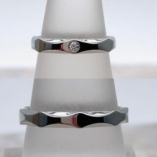 ブルガリ(BVLGARI)の★BVLGARI★ インフィニート ウェディングバング 婚約指輪 pt950(リング(指輪))