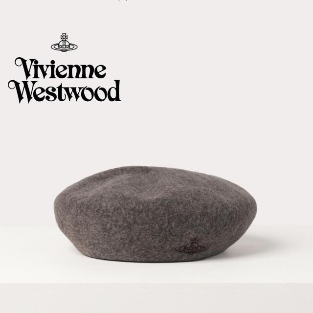 Vivienne Westwood(ヴィヴィアンウエストウッド)のヴィヴィアン・ウエストウッド ORB刺繍 バスクベレー レディースの帽子(ハンチング/ベレー帽)の商品写真