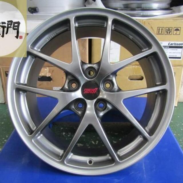 スバル(スバル)のスバル VAB系 WRX STI タイプS純正 4本セット 自動車/バイクの自動車(タイヤ・ホイールセット)の商品写真