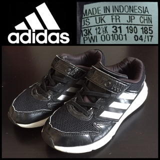 adidas - 【adidas】アディダスファイト 19cm ブラック キッズスニーカー 運動靴