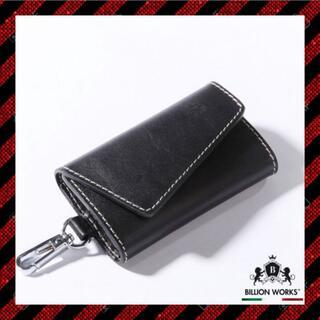 キーケース メンズ レディース おしゃれ かわいい 革 ブラック 6連(キーケース)