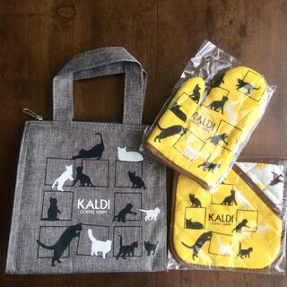 カルディ(KALDI)の【完売品★新品未使用】2019年 猫の日バッグ&グッズセット(トートバッグ)