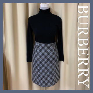 BURBERRY BLUE LABEL - BURBERRY バーバリー ブルーレーベル ニット 膝丈スカート