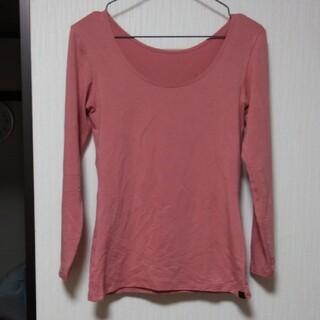ユニクロ(UNIQLO)の[Sサイズ]極暖 8分袖 ピンク(アンダーシャツ/防寒インナー)